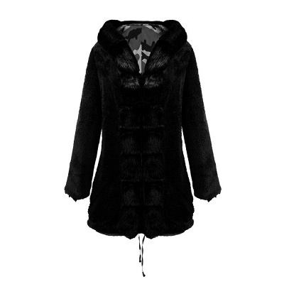 Camo Military Fur Lined Parka Coat with Faux Fur Hood_34