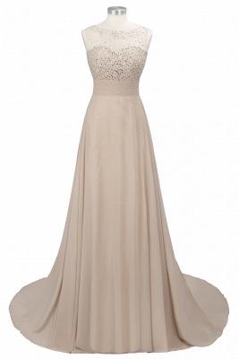 Cheap Grape A-line Sleeveless Sweep Train Prom Dress_10