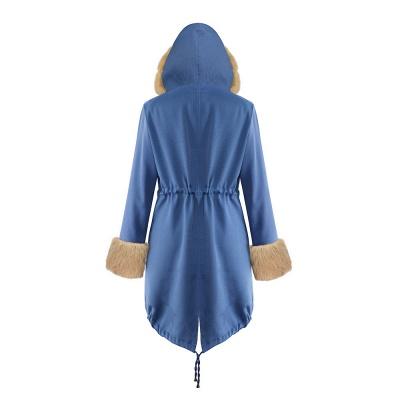Parka Coat with Premium Fur Trim and Faux Fur Hood_42