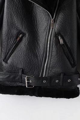 Women's Winter Velvet Pu Leather Jacket_13