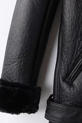 Women's Winter Velvet Pu Leather Jacket_10
