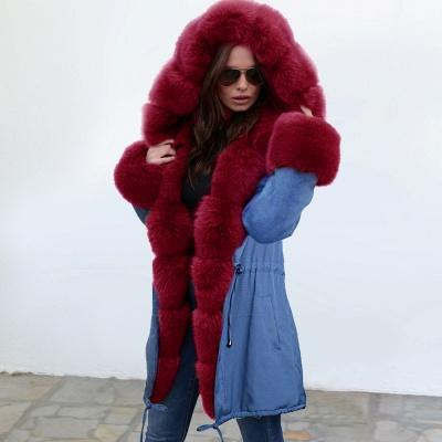 Parka Coat with Premium Fur Trim and Faux Fur Hood_7