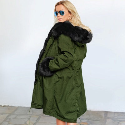 Hunt Hooded Parka Coat with Premium Fur Trim_12