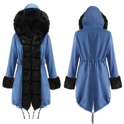 Parka Coat with Premium Fur Trim and Faux Fur Hood_23