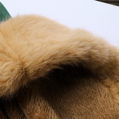 Camo Military Premium Fur Trim Parka Coat with Faux Fur Hood_21