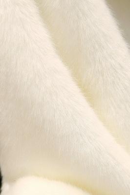 Black Cape Type Hooded Faux Fur Coat_18