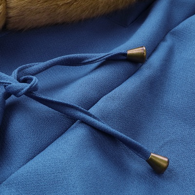 Parka Coat with Premium Fur Trim and Faux Fur Hood_56