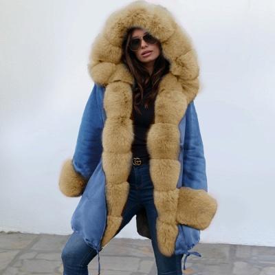 Parka Coat with Premium Fur Trim and Faux Fur Hood_15
