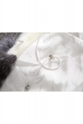 Women's Fashion Hooded White Fox Fur Coat_21