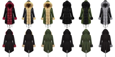 Premium Fur Trimmed Parka Coat with Faux Fur Hood_10