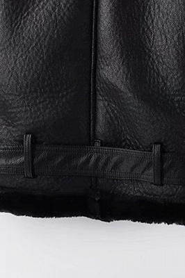 Women's Winter Velvet Pu Leather Jacket_6