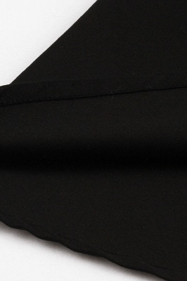 Vintage 1/2 Sleeve Wintersweet Embroidery Black Swing Dress_14