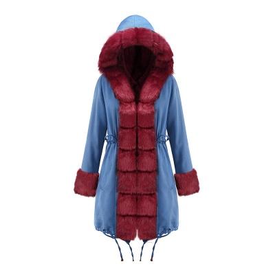 Parka Coat with Premium Fur Trim and Faux Fur Hood_37