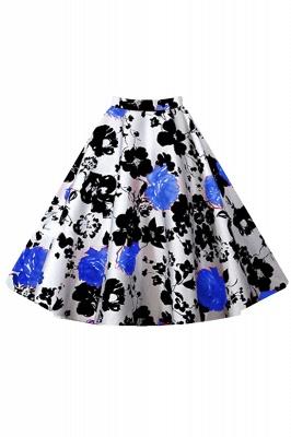 Retro A-line Floral?Printed Short Skirt_3