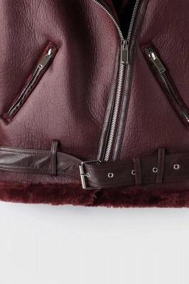 Women's Winter Velvet Pu Leather Jacket_14