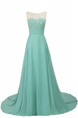 Cheap Grape A-line Sleeveless Sweep Train Prom Dress_4