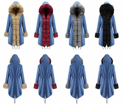 Parka Coat with Premium Fur Trim and Faux Fur Hood_26