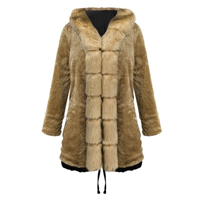 Premium Fur Trimmed Parka Coat with Faux Fur Hood_26