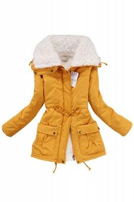 Women's Fashion Hunt Lamb Wool Collar Parka Coat_12