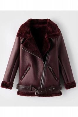 Women's Winter Velvet Pu Leather Jacket_1