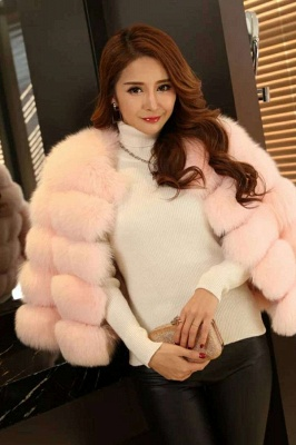 Tiered Fox Fur Coat with Full Fur Collar and Cuffs_18
