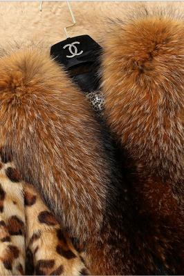 Leopard Print Faux Fur Taffeta Coat With Premium Fox Fur Trim_6