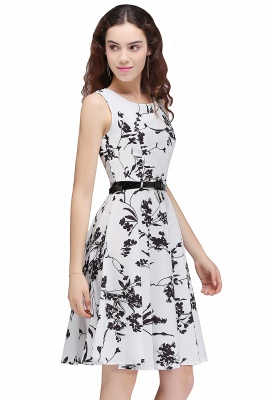 Sleeveless Belted Floral Printed Short Dress_7