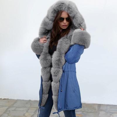 Parka Coat with Premium Fur Trim and Faux Fur Hood_12