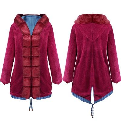 Parka Coat with Premium Fur Trim and Faux Fur Hood_18