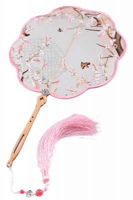 Chinese-Style Double-Sided Su Embroidered Hand Silk Fan With Hand Tassels_1