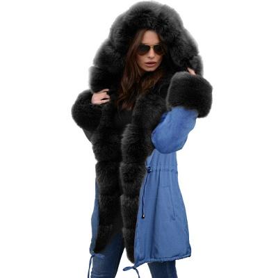 Parka Coat with Premium Fur Trim and Faux Fur Hood_27