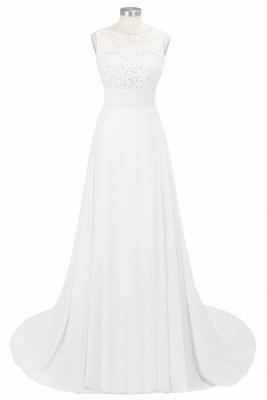 Cheap Grape A-line Sleeveless Sweep Train Prom Dress_2