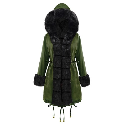 Hunt Hooded Parka Coat with Premium Fur Trim_16