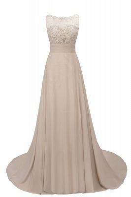Cheap Grape A-line Sleeveless Sweep Train Prom Dress_6