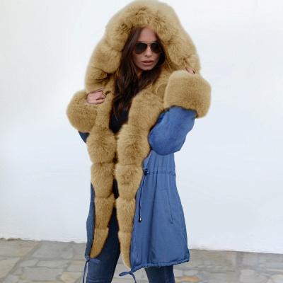 Parka Coat with Premium Fur Trim and Faux Fur Hood_16