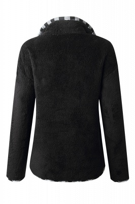 Women's Fall Winter Halp Zip Fuzzy Pullovers_2