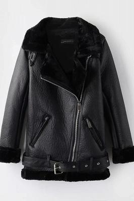 Women's Winter Velvet Pu Leather Jacket_2