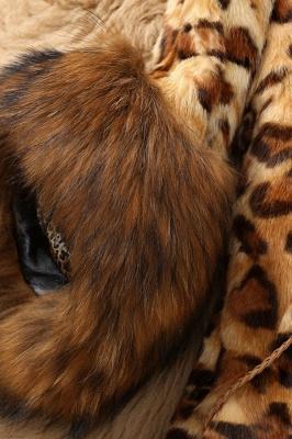 Leopard Print Faux Fur Taffeta Coat With Premium Fox Fur Trim_3