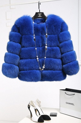 Tiered Fox Fur Coat with Full Fur Collar and Cuffs_7