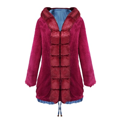 Parka Coat with Premium Fur Trim and Faux Fur Hood_36