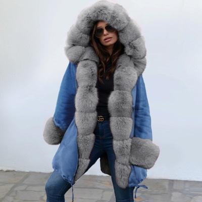Parka Coat with Premium Fur Trim and Faux Fur Hood_13