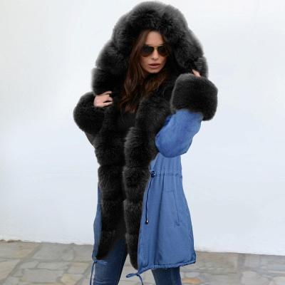 Parka Coat with Premium Fur Trim and Faux Fur Hood_3