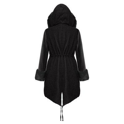 Premium Fur Trimmed Parka Coat with Faux Fur Hood_28