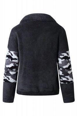 Womens Fuzzy  Halp Zip Fleece Winter Sherpa Sweaters Pullovers_2