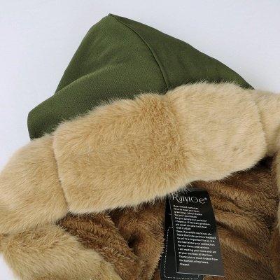 Premium Fur Trimmed Parka Coat with Faux Fur Hood_50