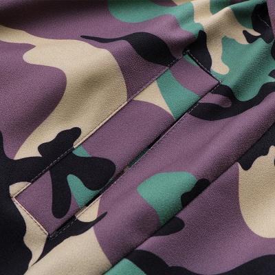 Camo Military Premium Fur Trim Parka Coat with Faux Fur Hood_18