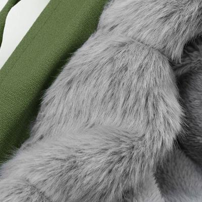 Premium Fur Trimmed Parka Coat with Faux Fur Hood_49