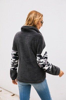 Womens Fuzzy  Halp Zip Fleece Winter Sherpa Sweaters Pullovers_5