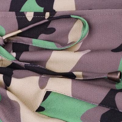 Camo Military Premium Fur Trim Parka Coat with Faux Fur Hood_17