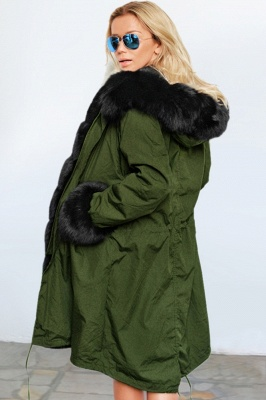 Hunt Hooded Parka Coat with Premium Fur Trim